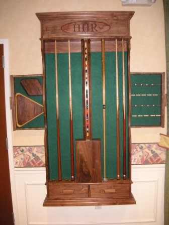 Welcome to the hhr woodworking club web site for Cue rack plans
